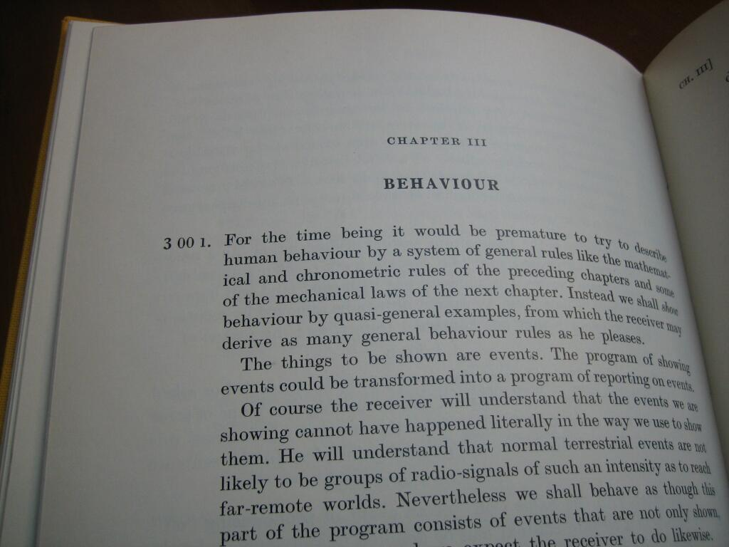 Chapter III: Behavior