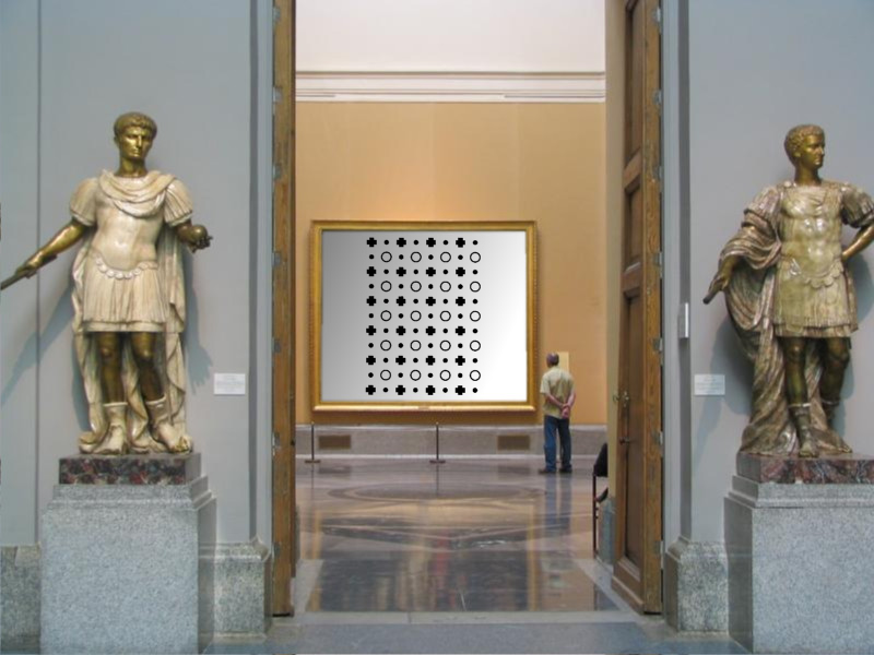 a pattern in a gallery